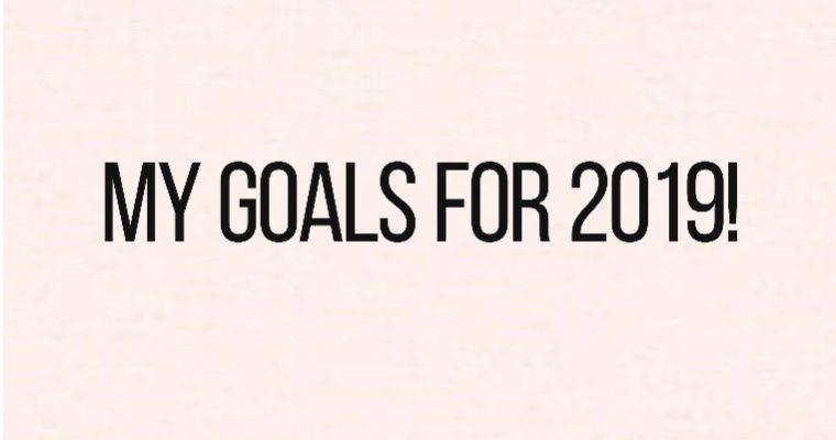 My 2019 Goals!